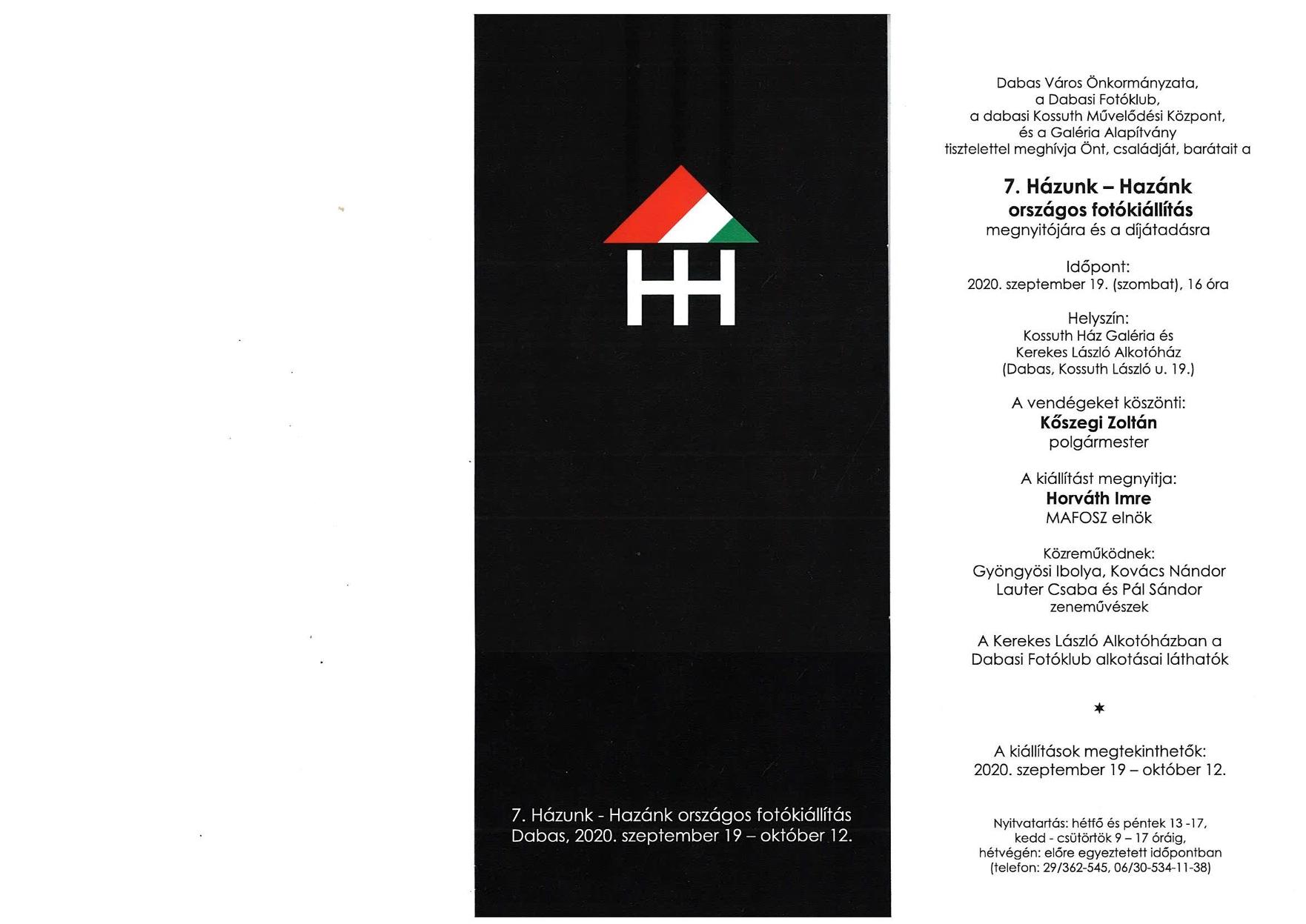 7. Házunk - Hazánk országos fotópályázat megnyitó